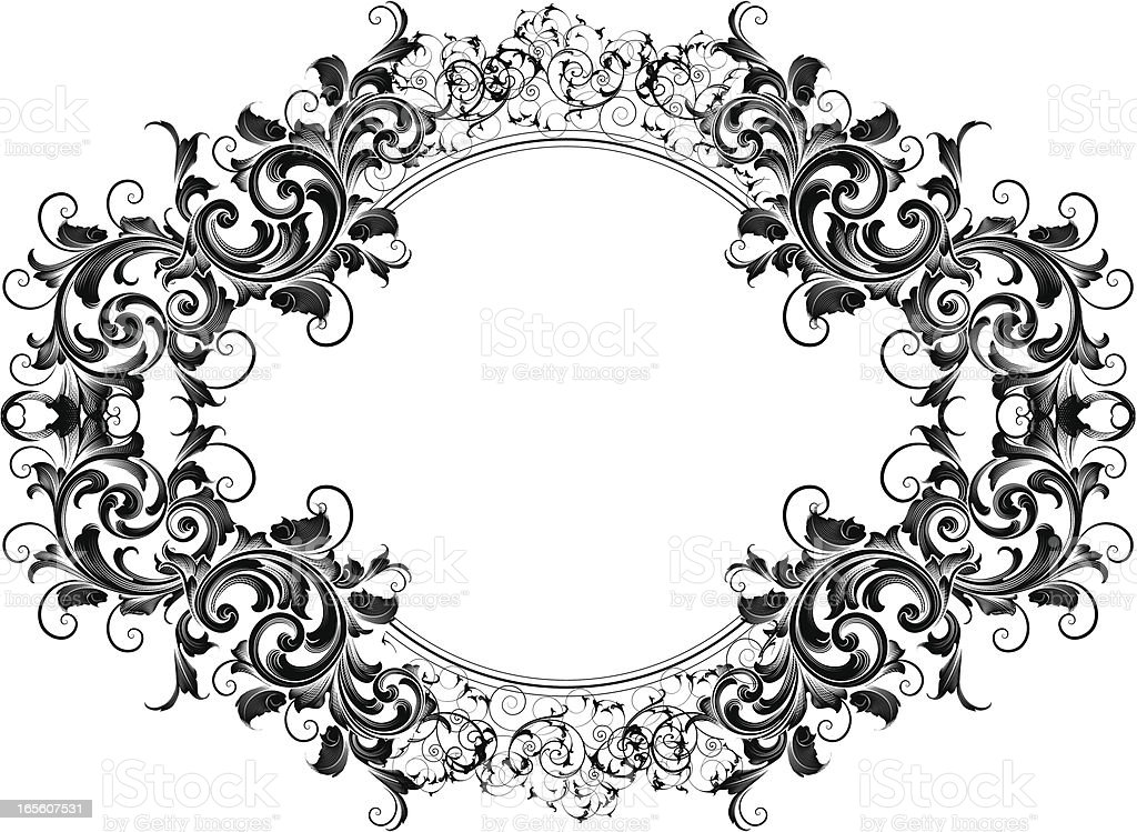 Engraved Circle Element royalty-free stock vector art