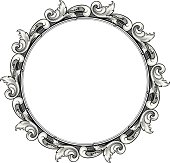 Designed by a hand engraver. Highly detailed engraved scrollwork in a circular frame with copy space. Scroll background color on a separate layer so any fill color is possible. Change color and scale easily with the enclosed EPS 10 and AI files. No transparencies or special effects. Also includes hi-res JPG.