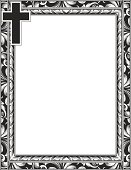 Engraved Cross And Scroll Frame