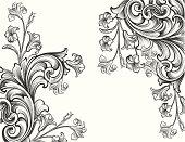 Engraved Floral Corners