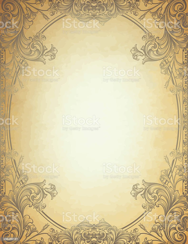 Engraved Floral Frame royalty-free engraved floral frame stock vector art & more images of 19th century style
