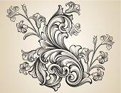 Engraved Floral Scrolls