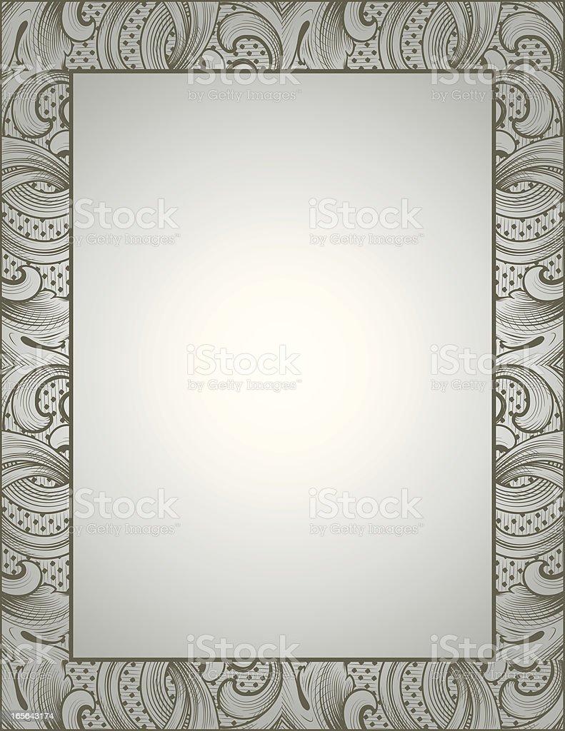 Engraved Framework royalty-free stock vector art