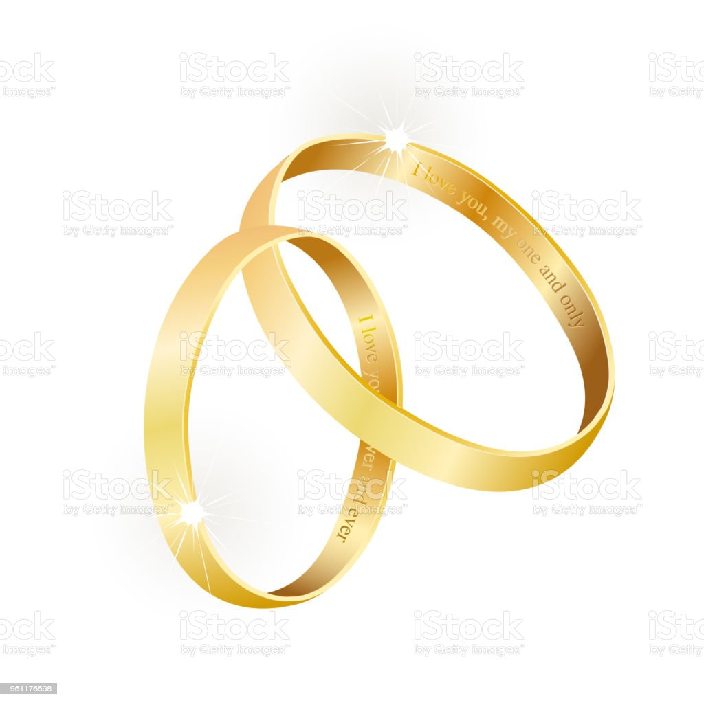 Royalty Free Gold Band Engagement Rings Clip Art Vector Images