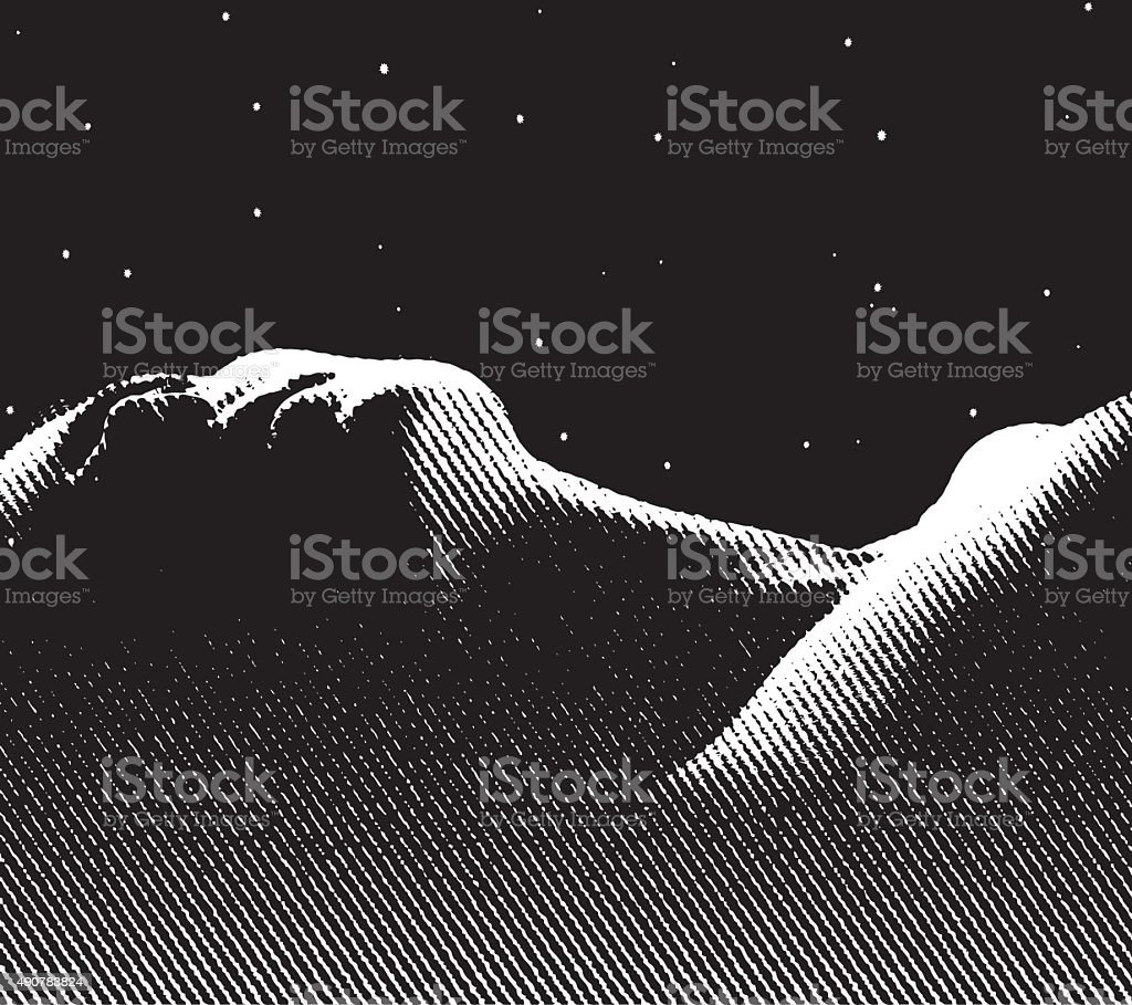 Engraving of Serene Woman Enjoying A Good Nights Sleep vector art illustration