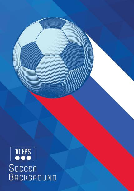 soccer ball abbildung mit dreieck streifen bg gravur - fußballkunst stock-grafiken, -clipart, -cartoons und -symbole