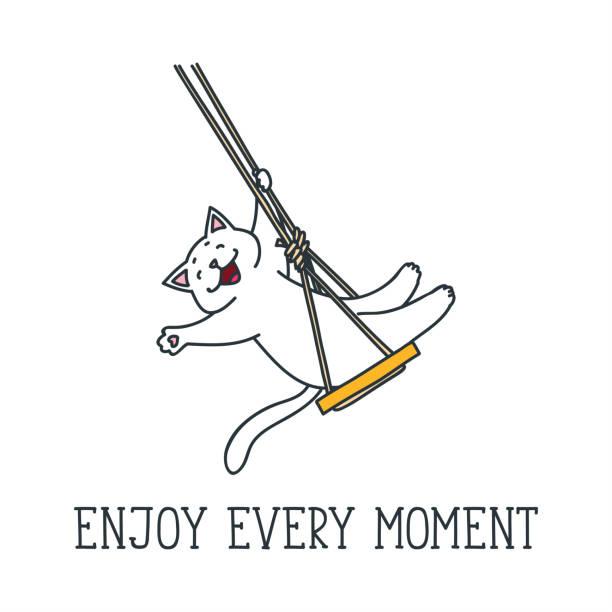 ilustrações de stock, clip art, desenhos animados e ícones de enjoy every moment - balouço