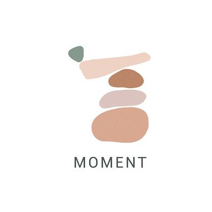 Enjoy moment flat vector illustration