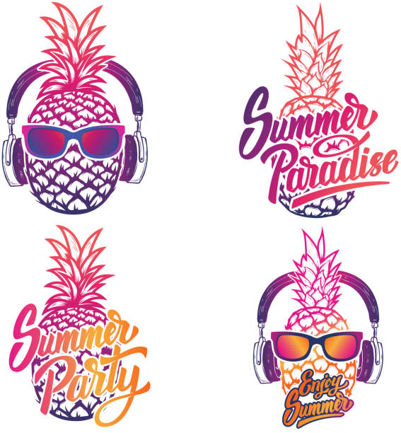 Best Pineapple With Sunglasses Illustrations, Royalty-Free ...