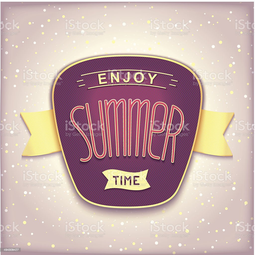 Enjoy summer time retro label royalty-free enjoy summer time retro label stock vector art & more images of abstract