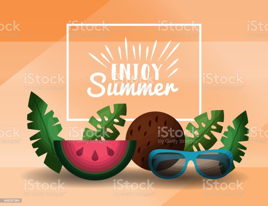 Enjoy Summer Vacations Royalty Free Stock Vector Art Amp More Images