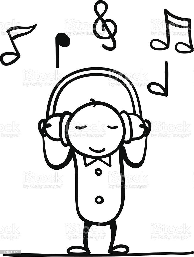 Enjoy the Music royalty-free stock vector art