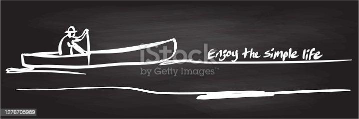istock Enjoy The Simple Life Chalkboard 1276705989