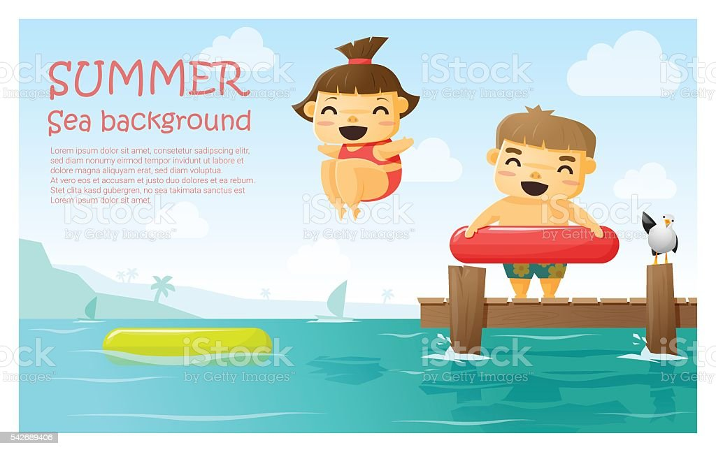 Enjoy tropical summer holiday background 3