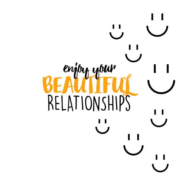 Enjoy your beautiful relationships vector art illustration