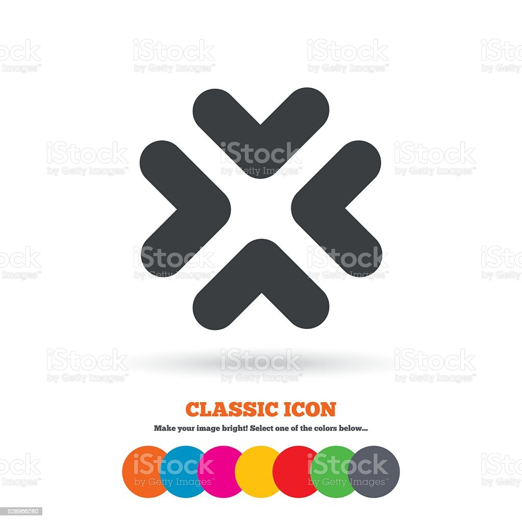 Enlarge or resize icon. Full Screen extend. vector art illustration