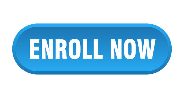 enroll now button. enroll now rounded blue sign. enroll now enroll now button. enroll now rounded blue sign. enroll now enrollment stock illustrations