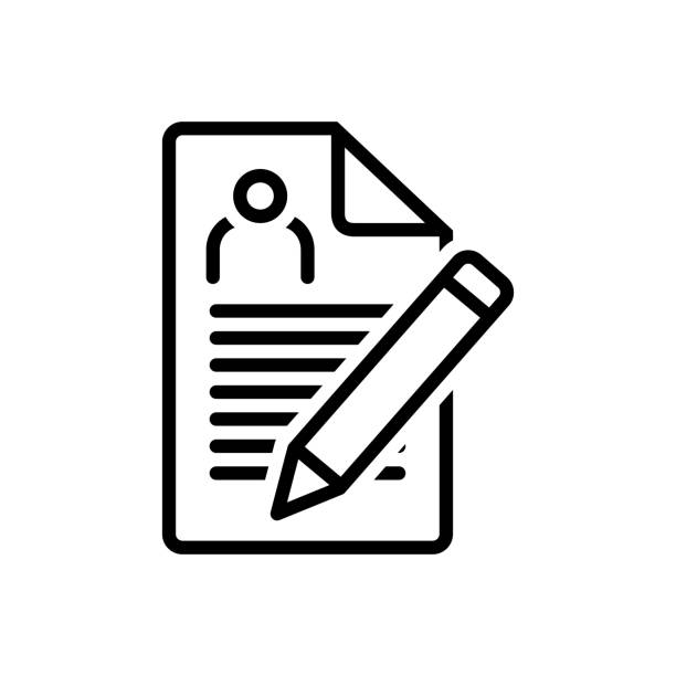 Enrollment nomination Icon for enrollment, nomination, recruitment, registration, agreement enrollment stock illustrations