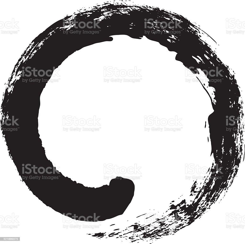 Enso Japanese Zen Circle Calligraphy Stock Vector Art