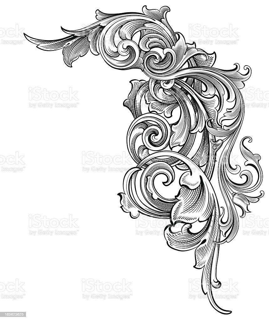 Antique Scroll Patterns: Entangled Scrollwork Stock Vector Art & More Images Of