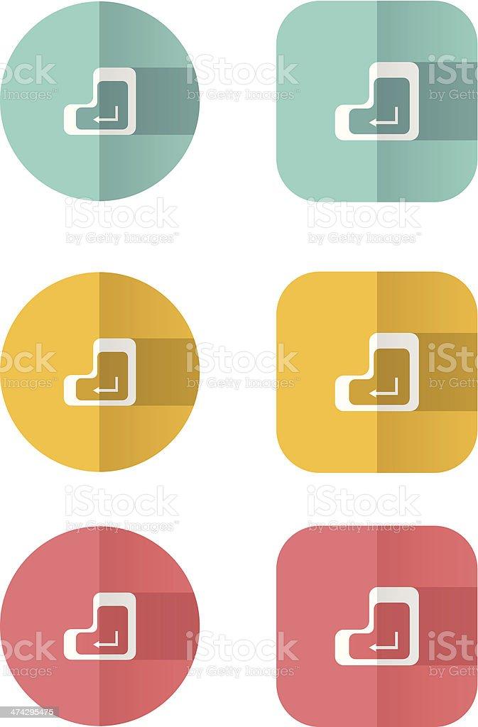 Enter button royalty-free enter button stock vector art & more images of art