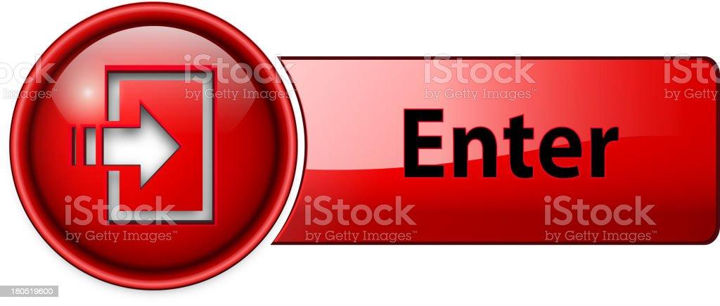 enter icon, button royalty-free stock vector art