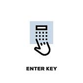 Enter Key Line Icon