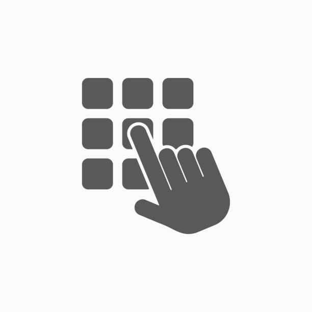 enter pin code icon enter pin code icon enter key stock illustrations