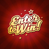 Vector of enter to win headline with color starburst background. EPS Ai 10 file format.