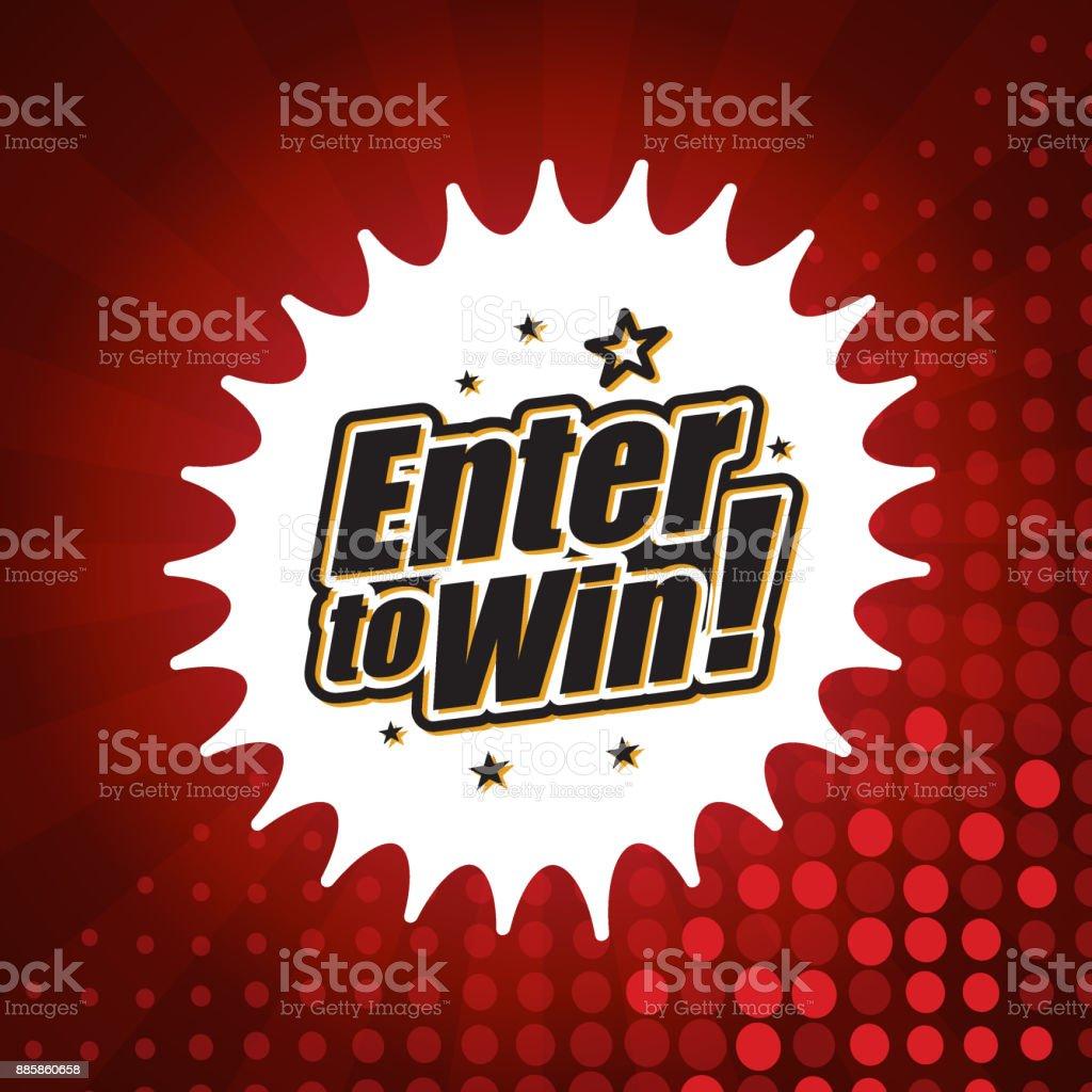 Enter to win banner vector art illustration