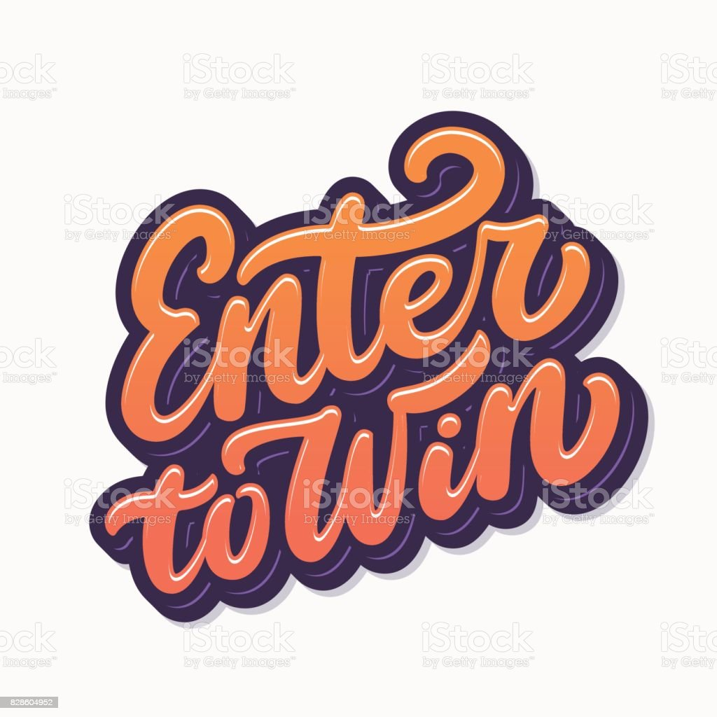 Enter to win sign. vector art illustration
