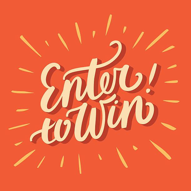 ilustrações, clipart, desenhos animados e ícones de participe para ganhar. - competição