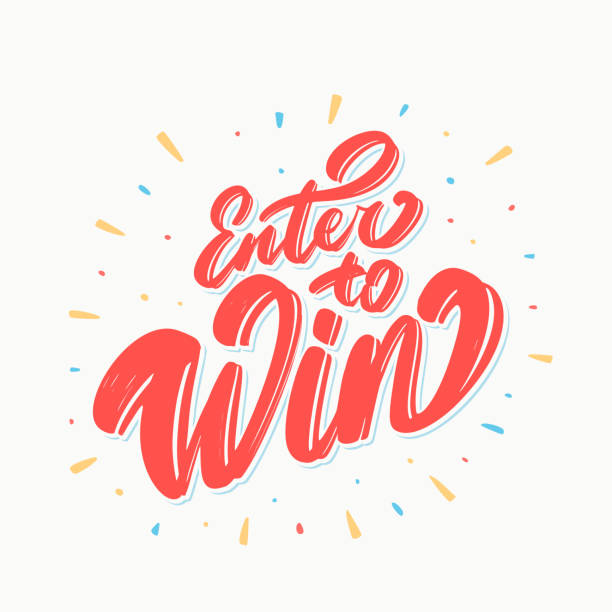 enter to win. vector lettering. - zwyciężać stock illustrations