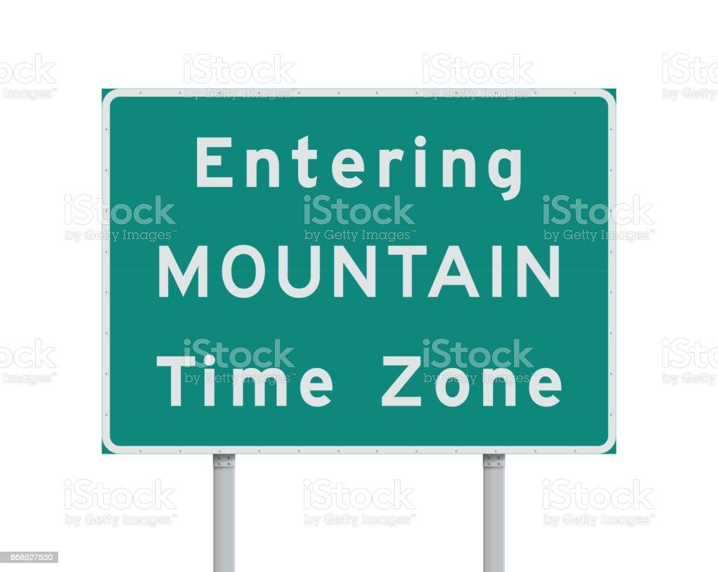 山岳部標準時ゾーンの道路標識を...