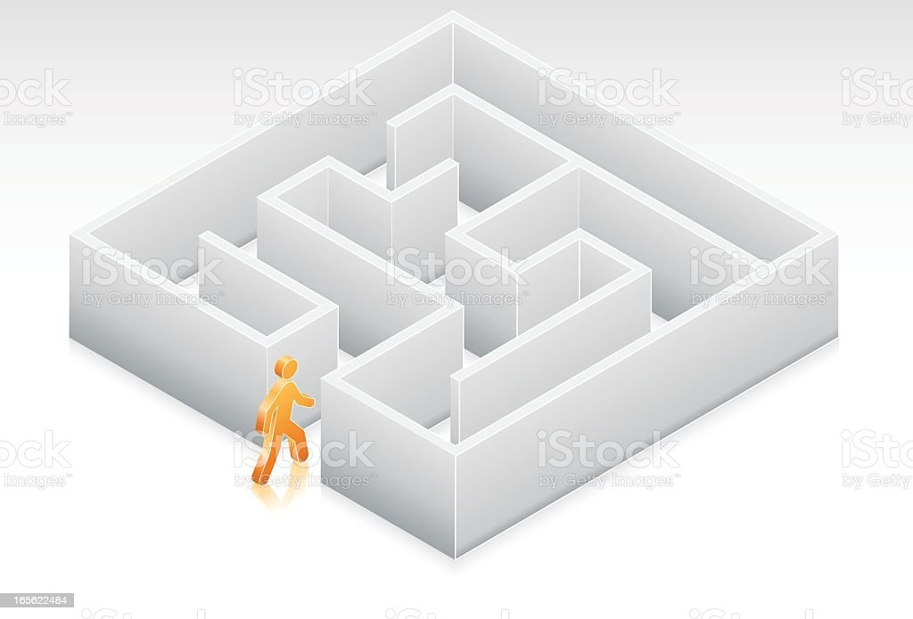 Entering the Maze royalty-free stock vector art