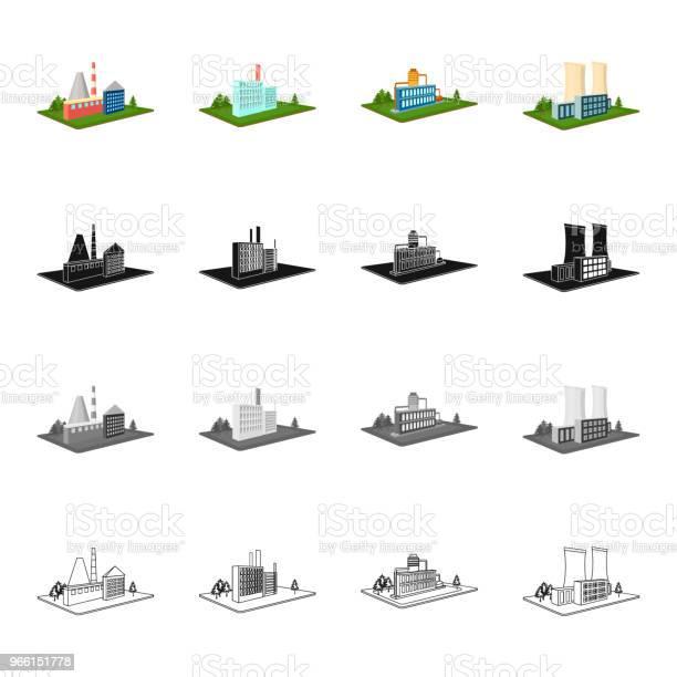 Aziende Organizzazione Azienda E Altre Icone Web In Stile Cartone Animato Architettura Manifattura Icone Vegetali Nella Collezione Di Set - Immagini vettoriali stock e altre immagini di Affari