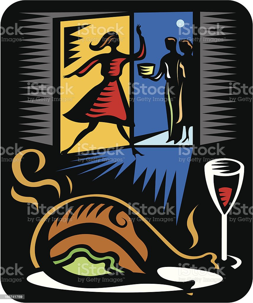 Entertaining Guests royalty-free entertaining guests stock vector art & more images of adult