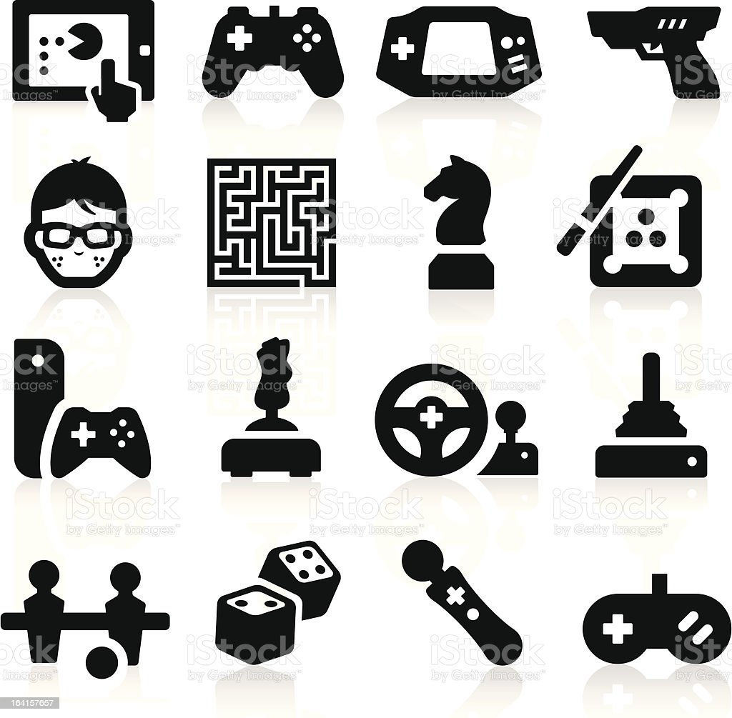 Entertaining Icons vector art illustration