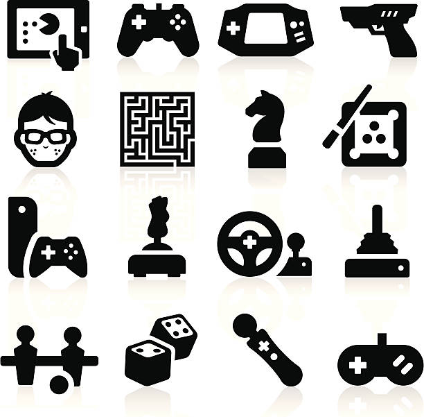 Entertaining Icons simplified but well drawn Icons, smooth corners no hard edges unless it's required,  hobbies stock illustrations