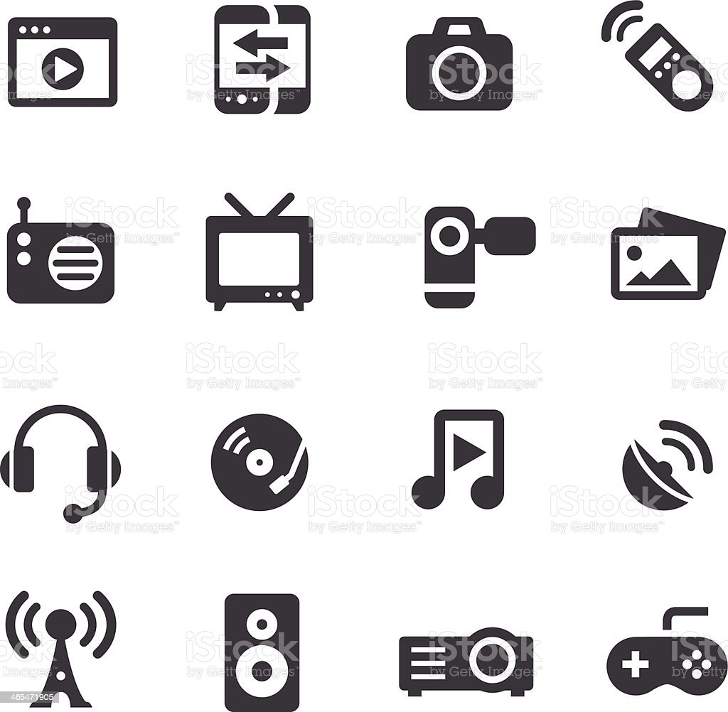 Entertainment and Media Icons - Acme Series vector art illustration
