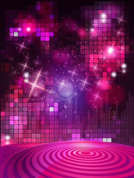 bildbanksillustrationer, clip art samt tecknat material och ikoner med entertainment background with flashlights - dansa disco