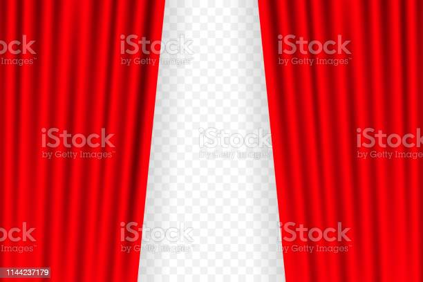 Entertainment Curtains Background For Movies Beautiful Red Theatre Folded Curtain Drapes On Black Stage Vector Illustration Stock Download Image Now Istock
