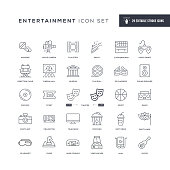 29 Entertainment Icons - Editable Stroke - Easy to edit and customize - You can easily customize the stroke with