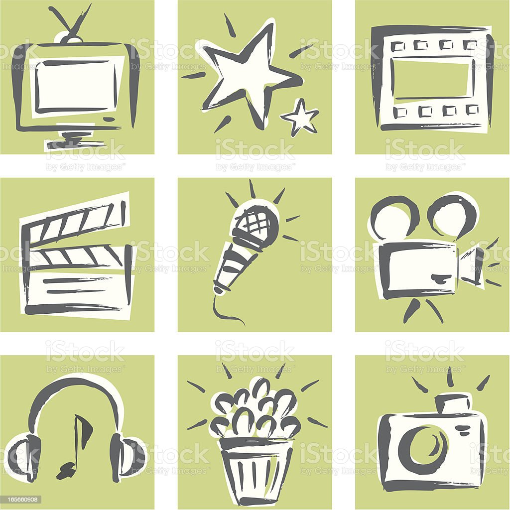 Entertainment Icon Set royalty-free entertainment icon set stock vector art & more images of arts culture and entertainment