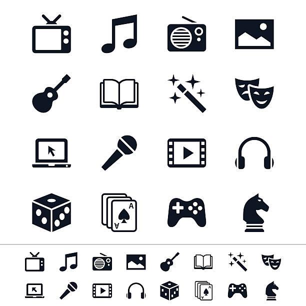 エンターテインメントのアイコン - ゲーム ヘッドフォン点のイラスト素材/クリップアート素材/マンガ素材/アイコン素材