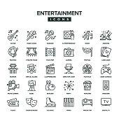 Entertainment Line Icon Set