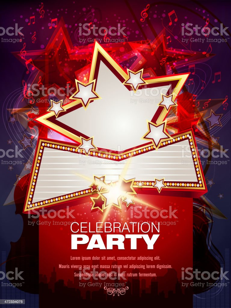 Entertainment - Musical Party Background royalty-free stock vector art