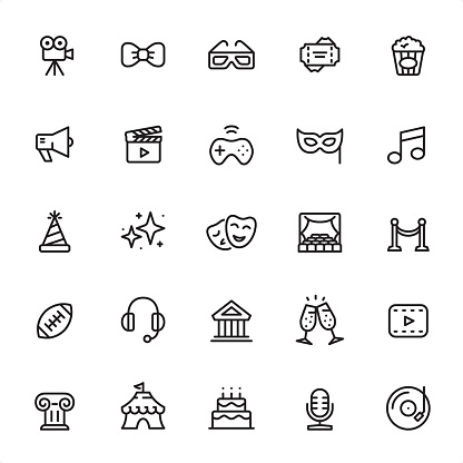 Entertainment - Outline Icon Set