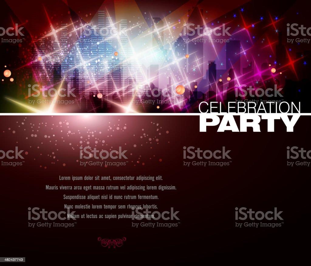 Entertainment - Party Background vector art illustration