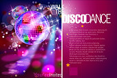 Entertainment - Party Background with Disco Balls. Each element in a separate layers. Very easy to edit vector EPS10 file. It has transparency layers with blend effects.